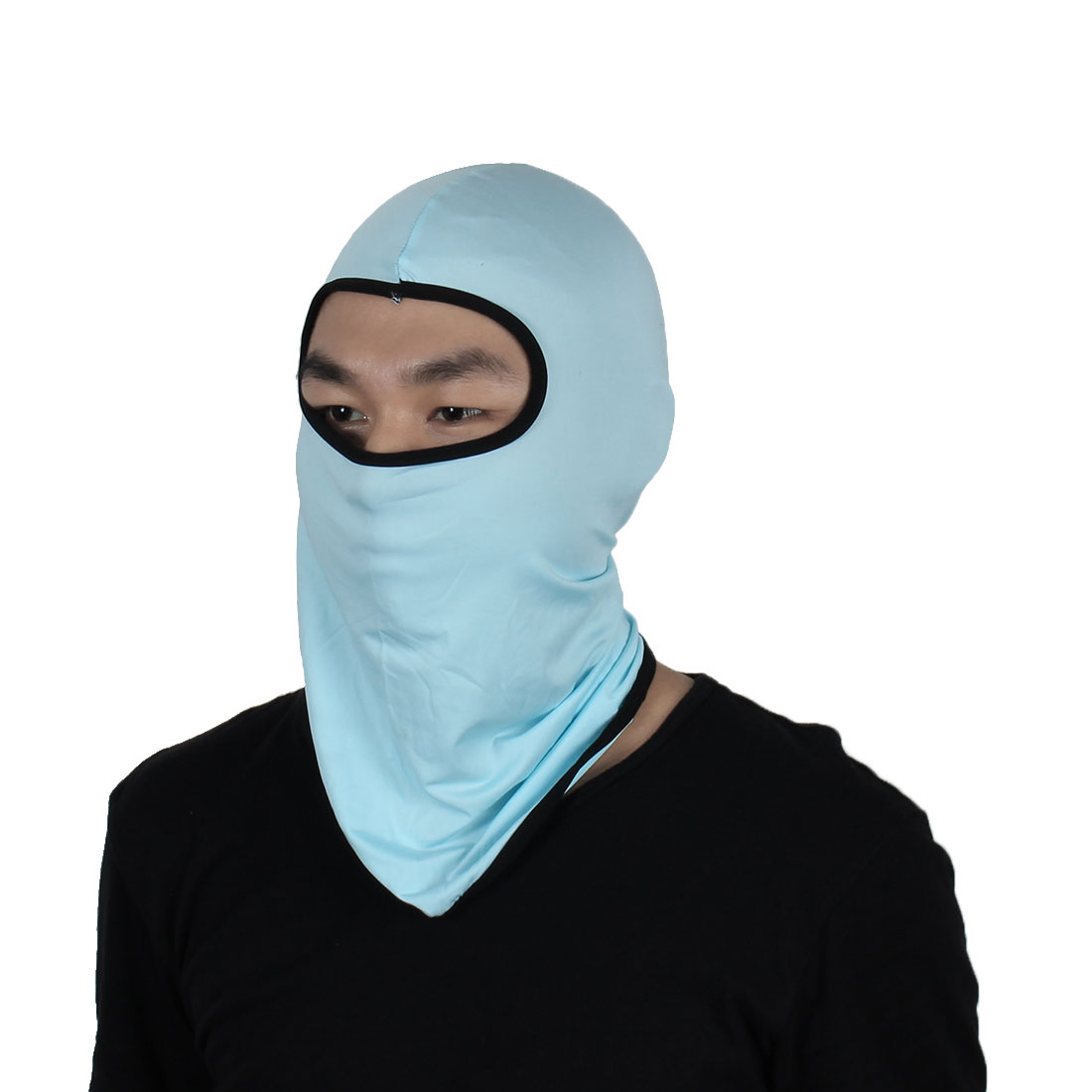 Full Face Mask Outdoor Activities Cycling Biking Neck Hat Helmet Balaclava Blue by Unique-Bargains