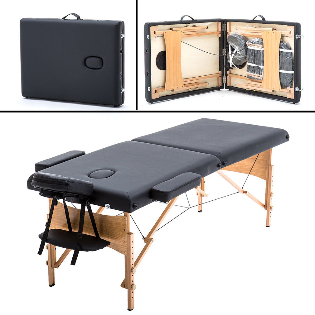 Portable Massage Table w/Free Carry Case Chair Bed Spa Facial