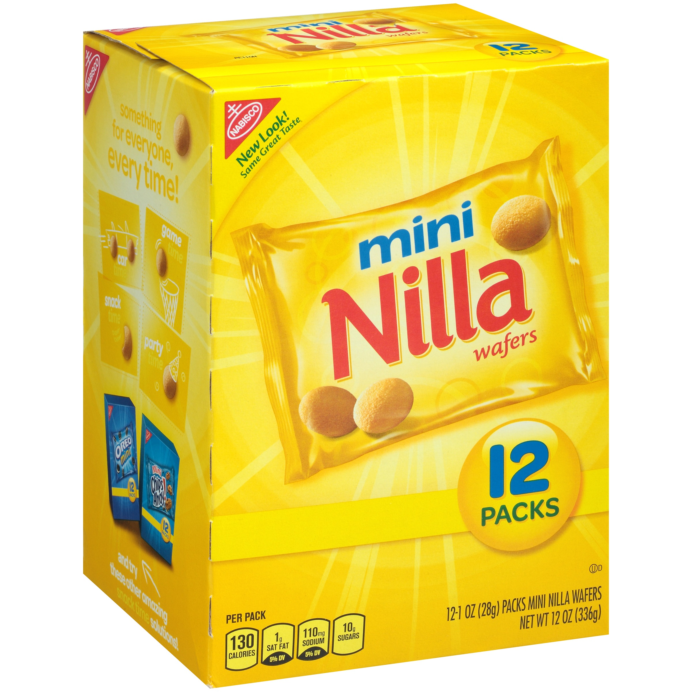 Nabisco Mini Nilla Wafers, 1 oz, 12 count