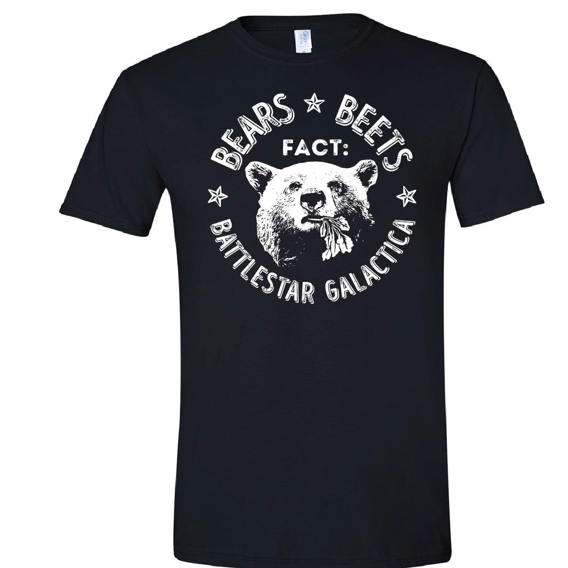 The Office Tee, Fact, Bears Eat Beets, Battlestar Gallactica, Small, Black