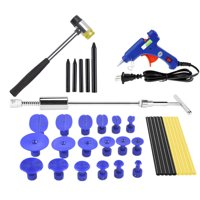 Car Dent Puller Kit, Paintless Dent Repair Remover, Pro Slide Hammer Tools with Thickened Black Tabs for DIY Automobile Body Hail Damage Removal
