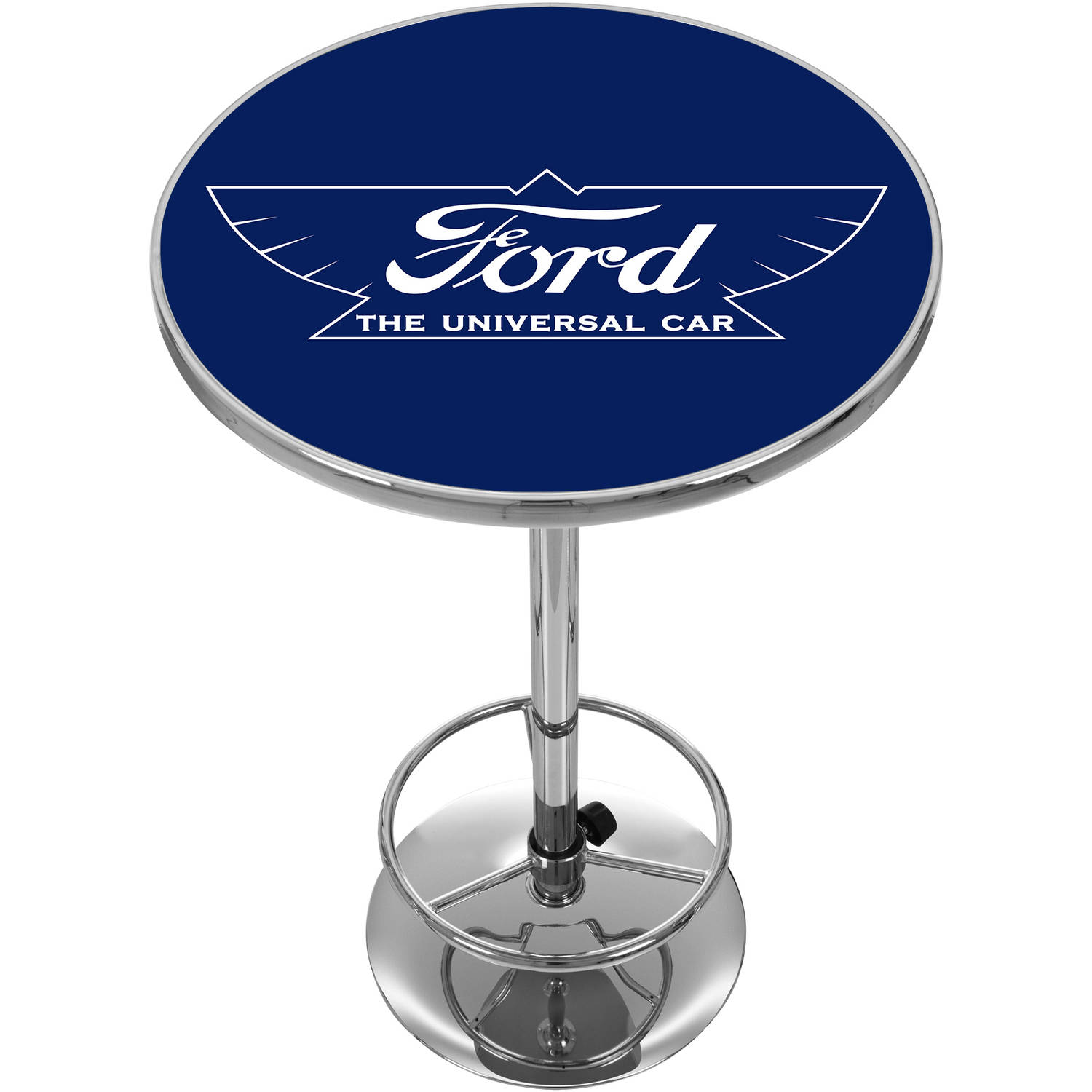 Ford Chrome Pub Table, The Universal Car