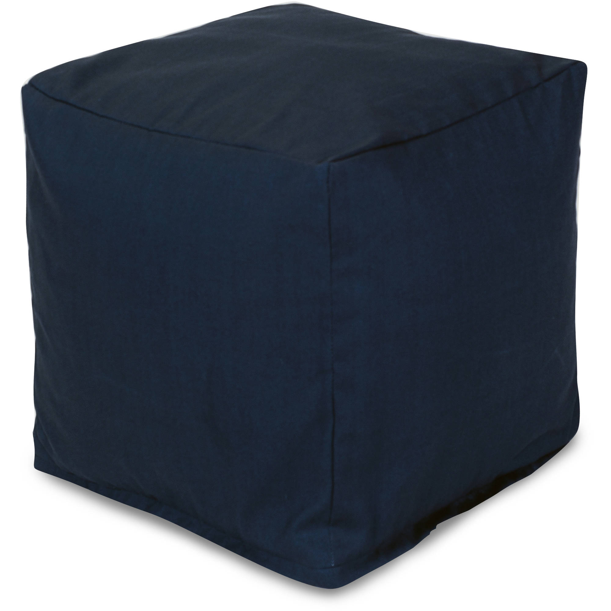 Majestic Home Goods Solid Color Bean Bag Cube, Indoor/Outdoor