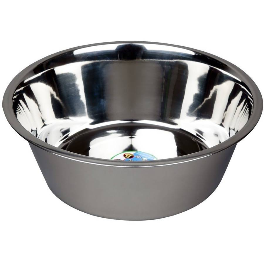 Image of Advanced Pet Products Stainless Steel Feeding Bowls, 10 Quart