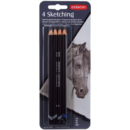Derwent Sketch Pencils, HB, 2B, 4B, 8B, 4/pkg