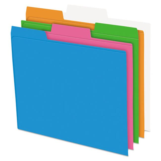 Pendaflex 40528 1 By 3 Cut Top Tab Glow Poly File Folders - Letter, Assorted Color - image 1 of 1