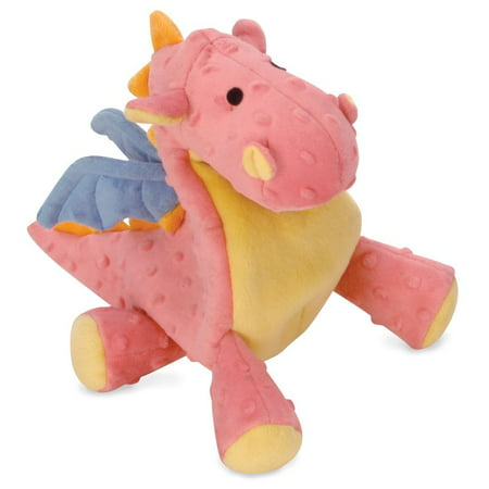 Toys For Dogs, Godog Coral Dragons Squeaky Cute Stuffed Plush Dog Chew Toy (Stuffed Dog Toys)
