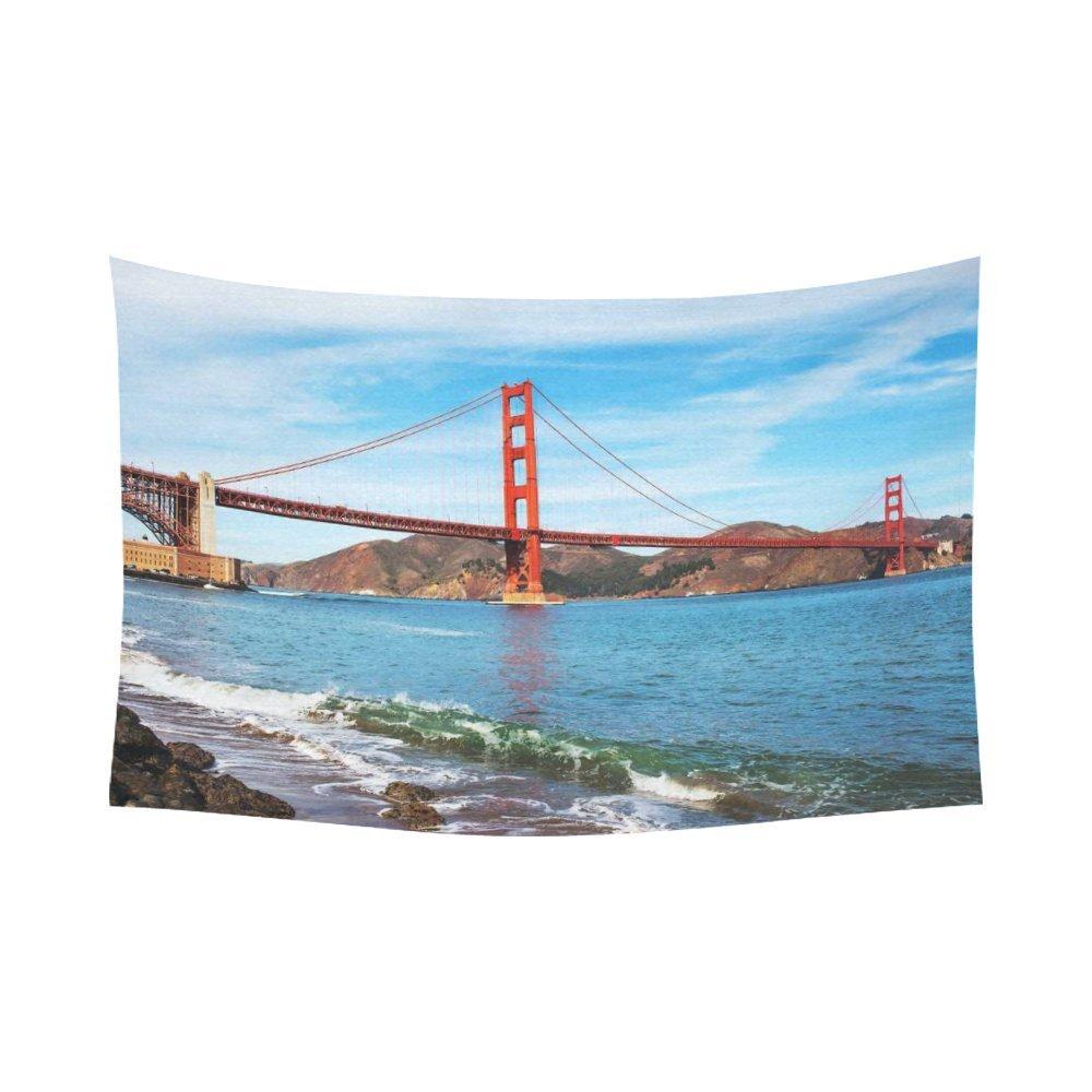 San Francisco California Golden Gate bridge hanging tapestry wall art