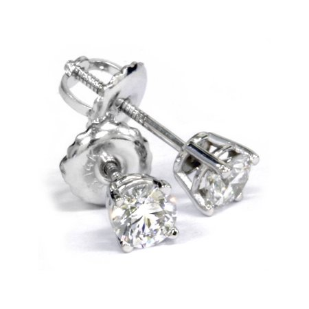 - VVS1 Platinum 1/2ct Diamond Studs