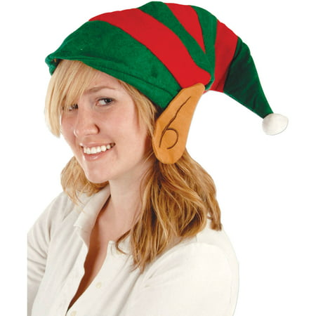 Elf Felt Hat with Ears Adult Halloween Accessory (Elf Ear)