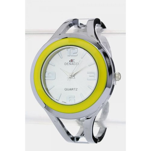 Le Chic Silver & Yellow Modernistic Watch