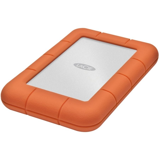 LaCie Rugged Mini LAC9000298 2 TB External Hard Drive - USB 3.0 - 5400rpm - Portable - Orange, Silver - 1 Pack