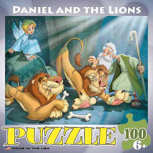 EuroGraphics Daniel and the Lions 100-Piece Puzzle, Small Box