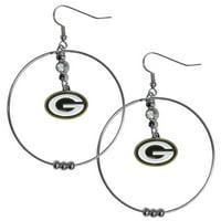 Green Bay Packers Official NFL Hoop Earrings by Siskiyou 277207