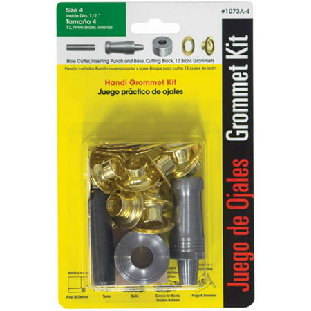 Lord and Hodge Inc. #4 Brass Handi-Grommet Kits 12 Count
