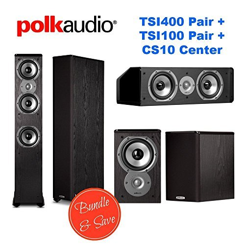 Polk Audio Home Theater System with (2) TSi400 (2) TSi100, and (1) CS10 by Polk Audio