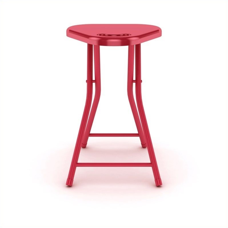 Atlantic Inc Folding Stool With Handle In True Red Set Of 4