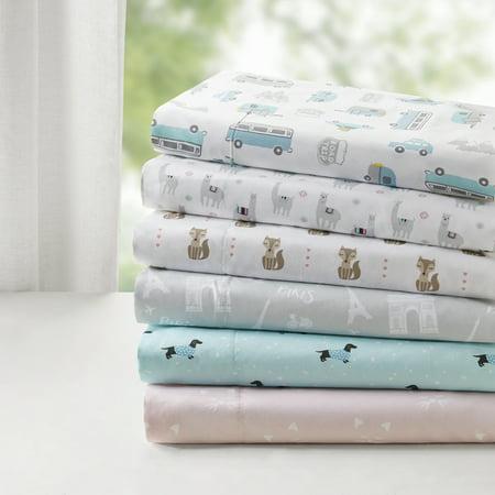 Comfort Classics Novelty Super Soft Printed Sheet Set - Halloween Cat Color Sheets