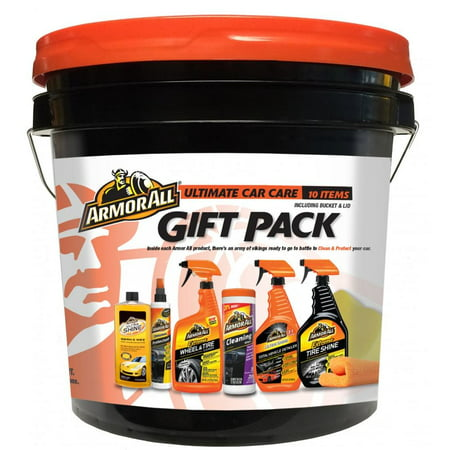 Armor All Ultimate Car Care Gift Pack, Car Wash, Car Detailing & Car Cleaning Kit (10 Pieces)