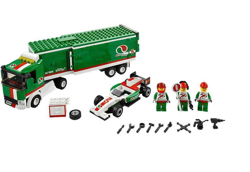 LEGO 3 NEW RED PITT CREW MINIFIGURES RACE CAR TEAM FIGURES