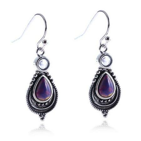 AkoaDa Women's Vintage Purple Crystal Earrings Fashion Purple Turquoise Earrings Gift Jewelry