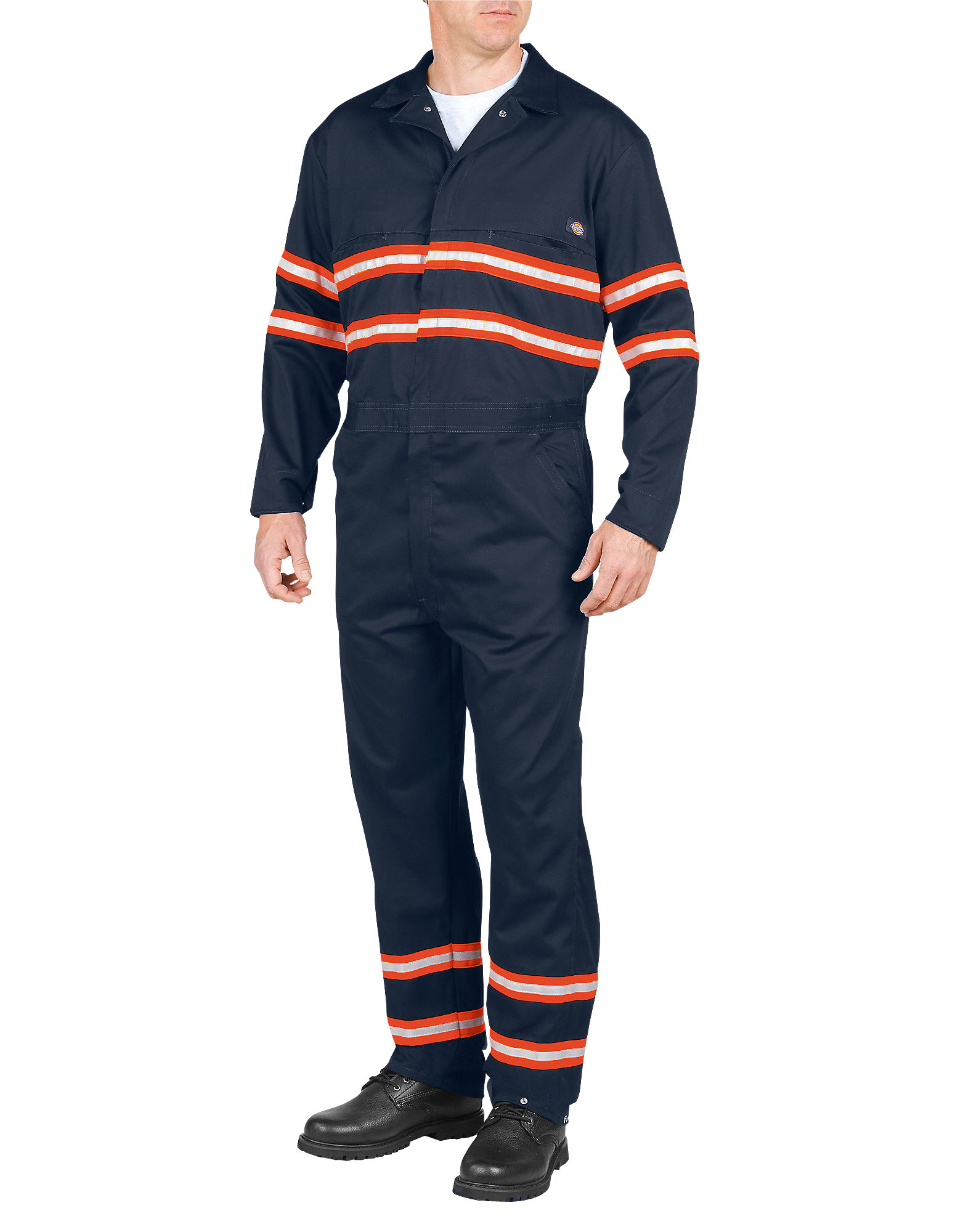 Dickies Mens Enhanced Visibility Long Sleeve Coverall, Dark Navy L TL by Coveralls