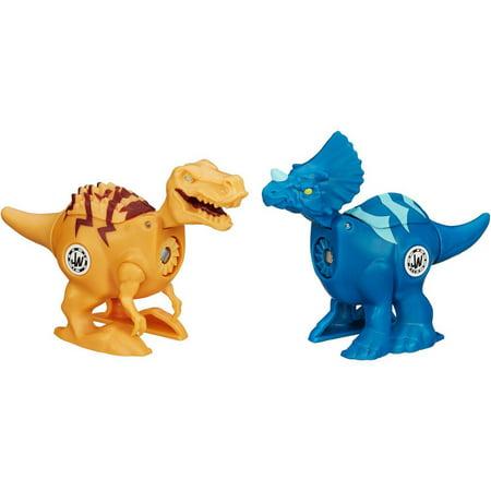 Jurassic World Brawlasaurs Tyrannosaurus Rex vs. Triceratops Figure Pack ()