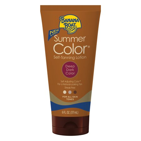 Banana Boat Summer Color Self-Tanning Lotion, Deep/Dark, 6 (Best Body Exfoliator For Self Tanning)