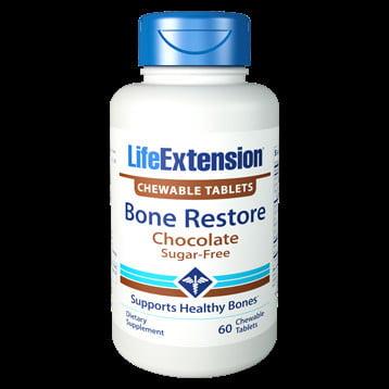 Life Extension Bone Restore Choc SF 60 chewtabs CA