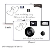10pack-Personalized Coupled Hearts Disposable Cameras.  Wedding Cameras, Anniversary Cameras, wedding favor, from CustomCameraCollection WM-50346-P