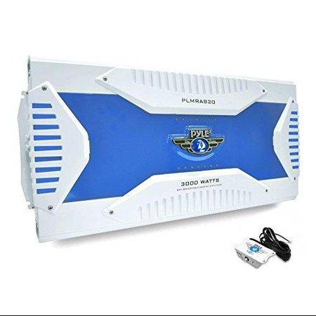 8 Channel 3000 Watt Waterproof Marine Bridgeable Mosfet Amplifier