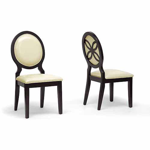 Wholesale Interiors Vandegriff Modern Dining Chair, Set of 2, Brown/Ivory