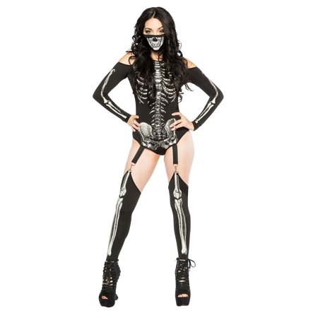 Skeleton Onesie For Adults (Skeleton Bodysuit Women's)