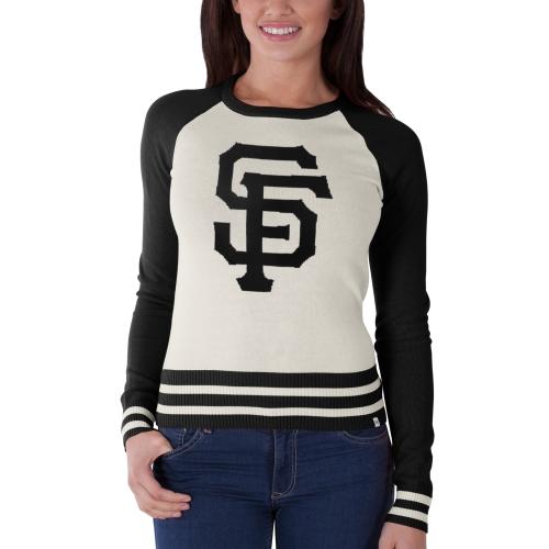 San Francisco Giants '47 Women's Passblock Sweater - Tan