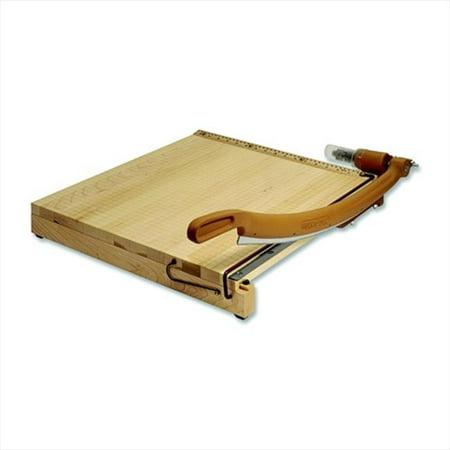 Quartet 032700 Classic Cut Ingento Swingline Heavy Duty Self-Sharpening Steel Blade Hardwood Handle Paper Cutter - 15 Sheets, 24 In. Cut, 25 x 24.25 x 0.75 In. - Maple