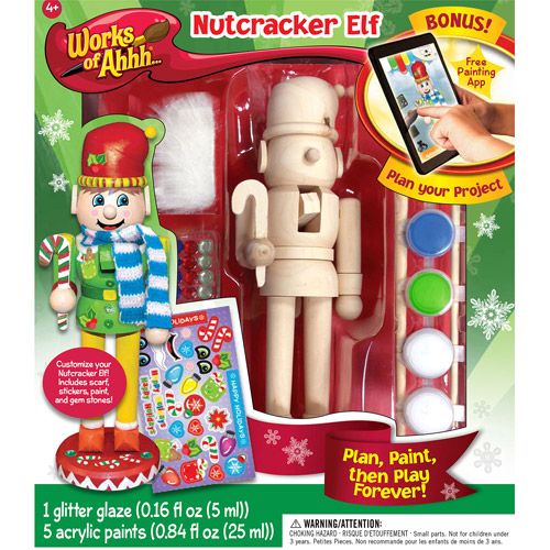 MasterPieces Works of Ahhh…Nutcracker Elf Holiday Wood Paint Kit