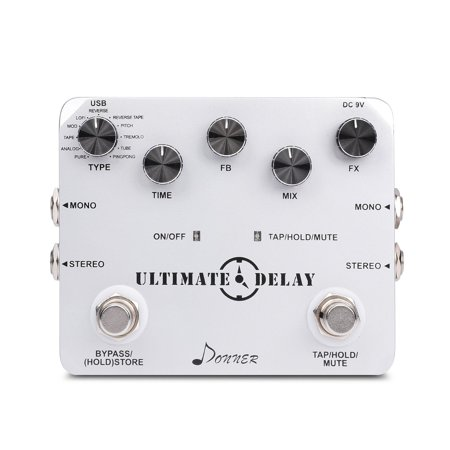 Donner Ultimate Delay Bass Guitar Effect Pedal Stereo 11 Mode