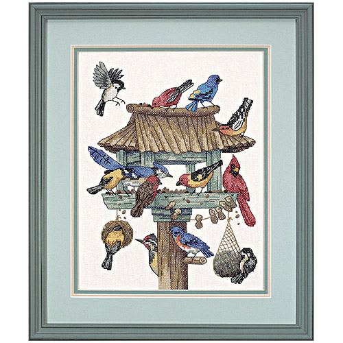 """Dimensions """"Dinner Call"""" Stamped Cross Stitch Kit, 11"""" x 14"""""""