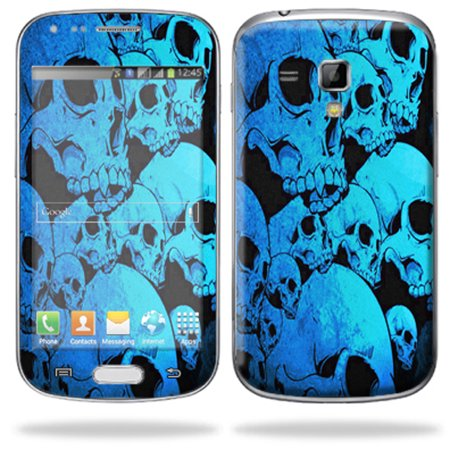 Mightyskins Protective Skin Decal Cover for Samsung Galaxy S Duos S7562 Cell Phone wrap sticker skins Blue Skulls
