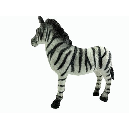 GiftExpress Jumbo Realistic Looking Safari Animals - Vinyl Assorted Zoo Animal Figures Elephant Tiger Jaguar Rhino and Zebra Educational Gift and Party Favors Toys for Kids and Classroom (Zebra) - Rocksteady Rhino