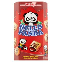 Meiji Hello Panda Cookies Filled with Chocolate Crème, 2.1 oz, 10 pack