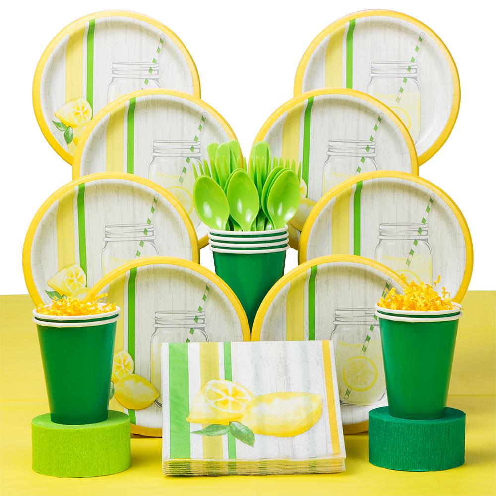 Lemonade Days Deluxe Tableware Kit (Serves 8)