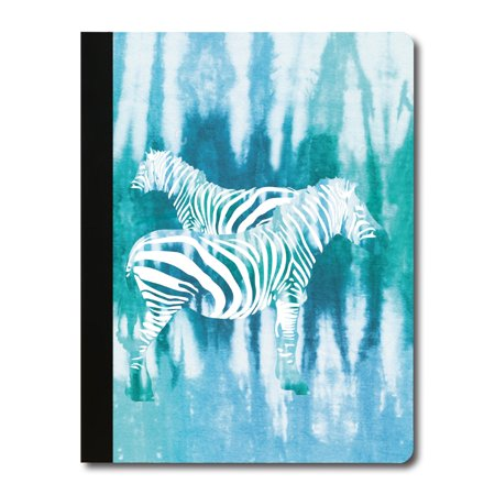 - Tree-Free Greetings Tie Dye Zebra Soft Cover-140 Page Eco Composition College Ruled Book-CJ47038