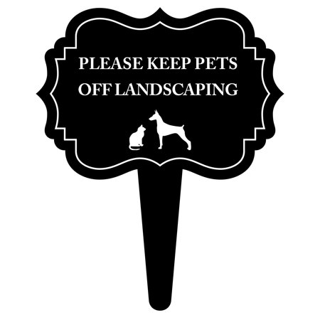 Please Keep Pets Off Landscaping Lawn Grass Flowerbed Sign 15.5x18 Inches - Aluminum