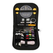 HOTBEST 52Pcs Sewing Box Needles Kit Multicolor Threads Travel Tools Stitching Embroidery Craft