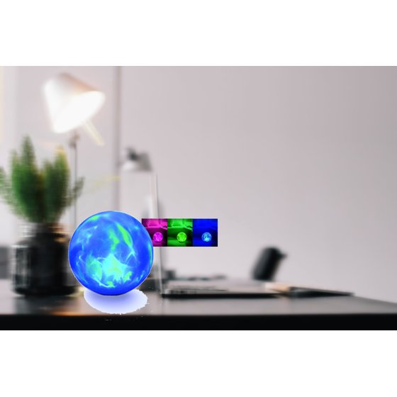 Color Changing Led Glow Ball Lamp Modern Retro Home Decor 8 In Night Lights To Be Distributed All Over The World Home & Garden