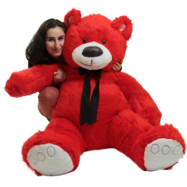 Baby Net For Stuffed Animals, Giant Valentine Red Teddy Bear Big Plush Soft Stuffed Animal Made In America Walmart Com Walmart Com