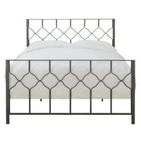 Trellis Pattern All-in-One Queen Metal Bed