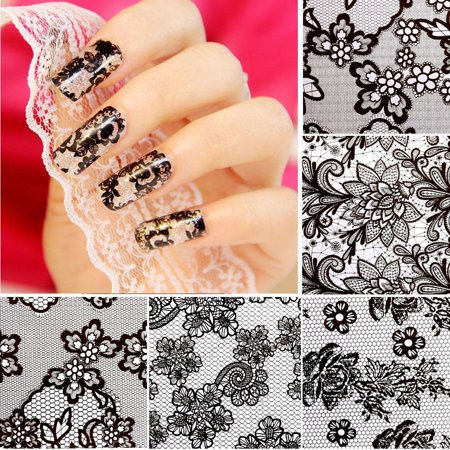 Diy Halloween Makeup Tips (New 20 Sheets Nail Art Flower Transfer Foil Stickers DIY Manicure Tips Decal Decoration)