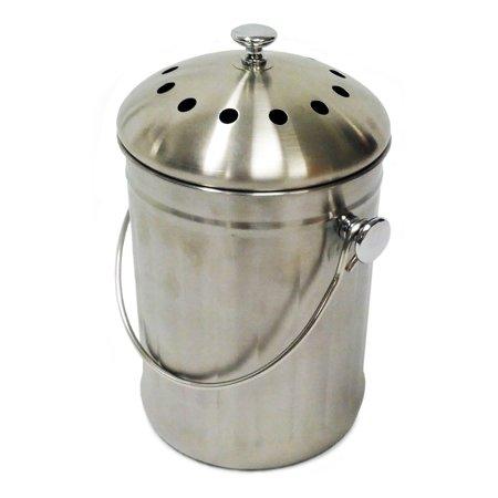Kitchen Compost Bin - Compost Wizard Kitchen Accents, Stainless Steel Kitchen Composter